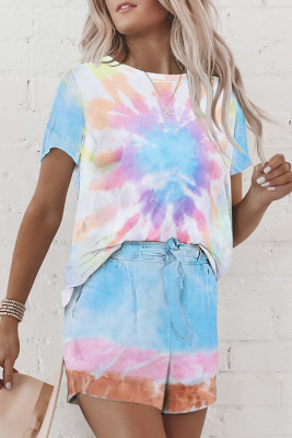 Ensemble de salon multicolore Tie Dye