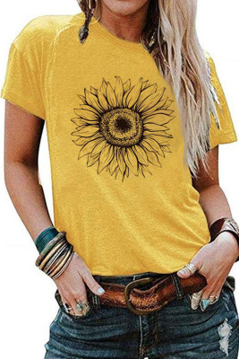 T-shirt jaune à base de tournesol