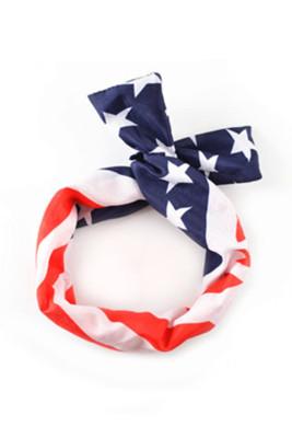 Bandeau de noeud de croisement de drapeau américain