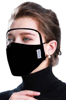 Schwarze staubdichte winddichte Outdoor Eyes Shield Gesichtsmaske mit 2 Filtern