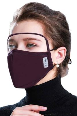 Masque de protection pour les yeux extérieur coupe-vent violet anti-poussière avec 2 filtres