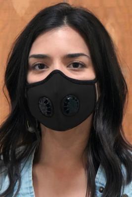 Masque noir unisexe avec double valve