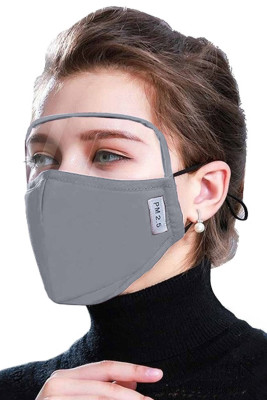 Gray Dustproof Windproof Outdoor Eyes Shield Face Mask with 2 Filters