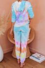 Sudadera con capucha con efecto tie dye en mezcla de algodón Utopía multicolor Joggers Loungewear