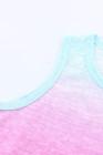 Top sin mangas multicolor Ombre