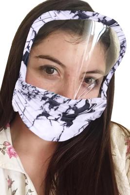Masque facial de couverture réutilisable lavable d'impression de colorant de cravate avec le bouclier