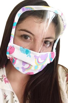 Waschbare wiederverwendbare Multicolor Print All Cover Gesichtsmaske mit Schild