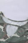 Top sin mangas con estampado de camuflaje