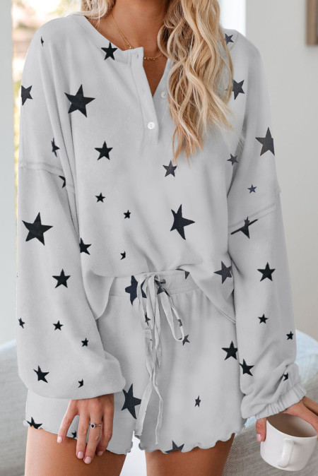 Star Print Knit Lounge Set