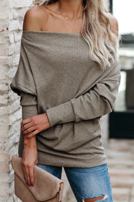 Khaki Ribbed Zip Knit Top