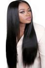 Schwarze Frauen gerade lange Perücke
