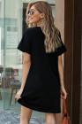 الشفة السوداء طباعة الصيف عارضة تي البسيطة اللباس
