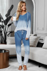 Blaue Utopia Cotton Blend Tie Dye Hoodie Jogger Loungewear