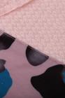 Sudadera tipo gofre con cuello alto y lentejuelas de leopardo