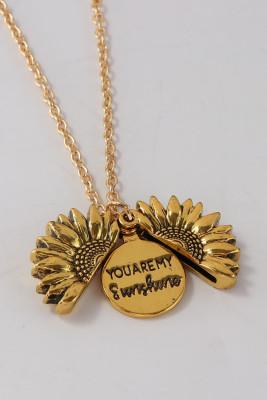 Du bist mein Sonnenschein Sonnenblumen Halskette