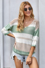 Spring Meadow Long Sleeve Loose Casual Knit Top