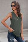 Green Just Say The Word 3 Button Tank Top