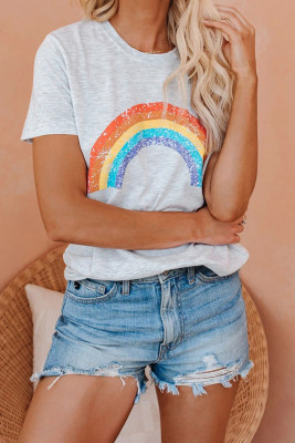 Pot Of Gold Heathered Rainbow Tee