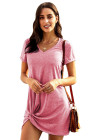 Pink The Triblend Side Knot Dress