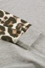 felpa con cappuccio leopardata