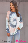 Multicolor Ombre Tie Dye Loose Leisure Sudadera