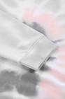 Tintura cinzenta do laço de Ombre camisola frouxa do lazer