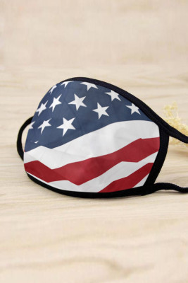 Red US Flag Breathable Comfort Face Mask