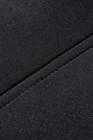 Cinturón negro de 5 huesos de acero con cinturón de neopreno y gancho