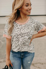 Camiseta con estampado de leopardo rosa