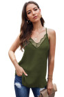 Green Delicate Balance Lace Cami Tank
