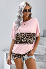 Leopard Patchwork Oversized Top