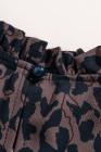 Robe trapèze à volants et imprimé léopard