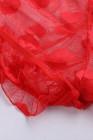 Красный кружевной принт в виде сетки с прозрачными рукавами