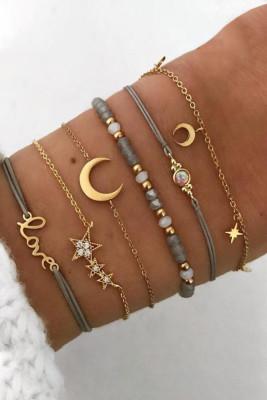 Moon & Star 6 stuks armband