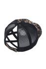 قبعة سوداء بطبعة جلد الفهد