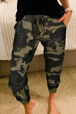 Pantaloni sportivi casual mimetici di moda