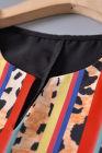 T-shirt d'épissure léopard rayé coloré