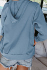 Himmelblaue Kapuzenjacke mit Reißverschluss