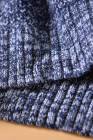 ブルーカラーブロックネットテクスチャプルオーバーセーター