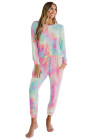 Pink Snuggle Down Tie Dye Lounge Set