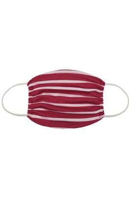 Masque quotidien lavable à rayures rouges