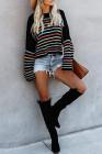 Черный свитер с узором в виде радуги