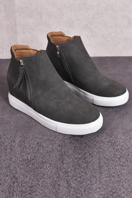 Šedé boty na platformě vulkanizují