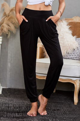 Schwarze stilvolle Lounge-Hose