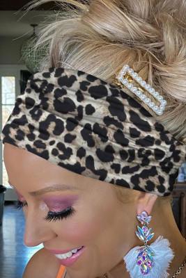 Bandeau noir à imprimé léopard
