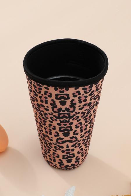 Alle Cup Cover met luipaardprint