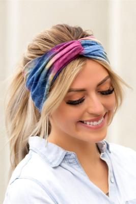 Bandeaux bleus Tie Dye Twist