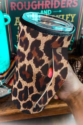 Bekerhoes met luipaardprint