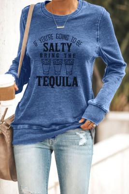 Azul se você vai ser salgado, traga o moletom de tequila