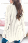 White Button Pocket Knit Cardigan